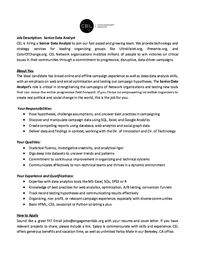 resume data analyst job description
