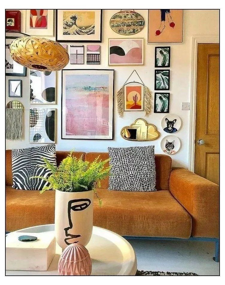 Eclectic Vintage Gallery Walls Modern Vintage Home Decor Have Nothing In Your H In 2020 Eclectic Living Room Bohemian Living Room Decor Bohemian Style Living Room