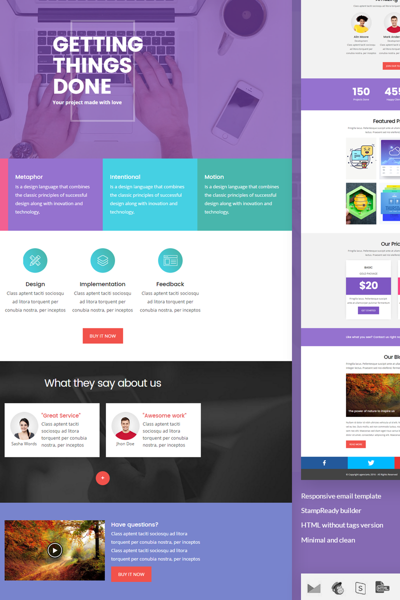 wave stampready builder responsive newsletter template design