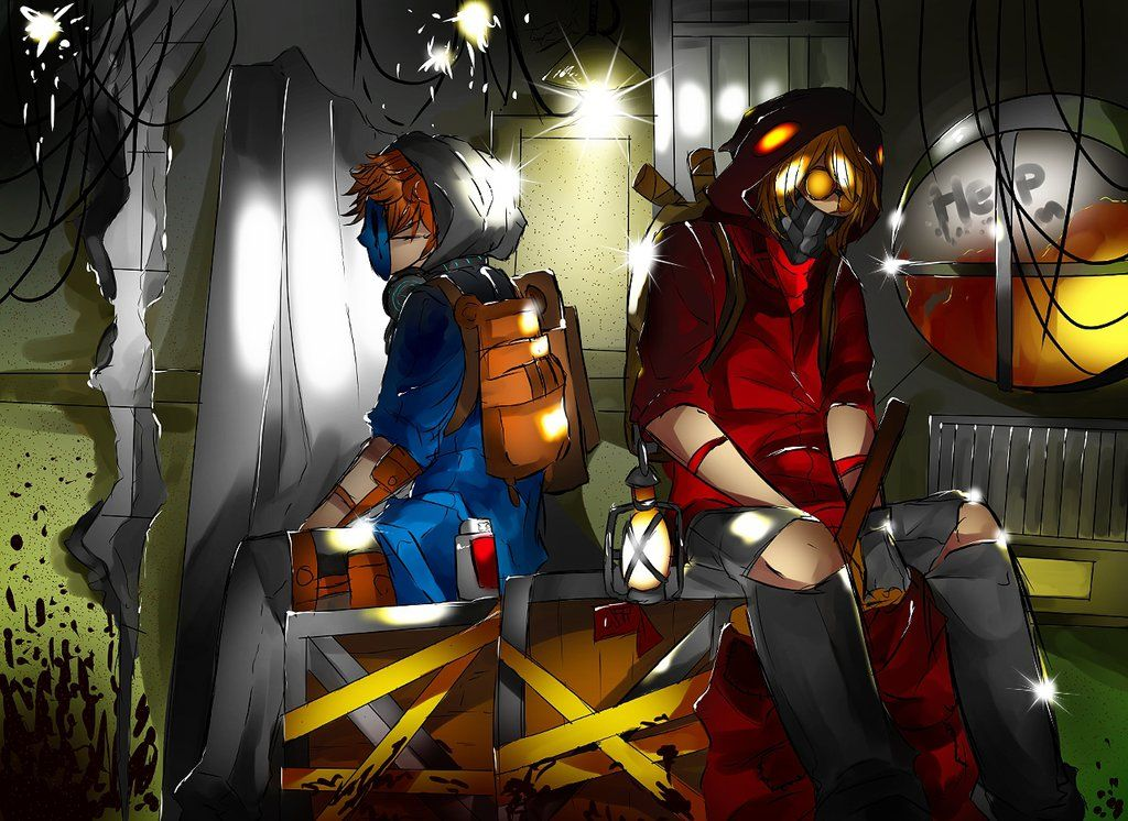 Eyeless Jack and Ticci Toby by MikeruMorino on DeviantArt