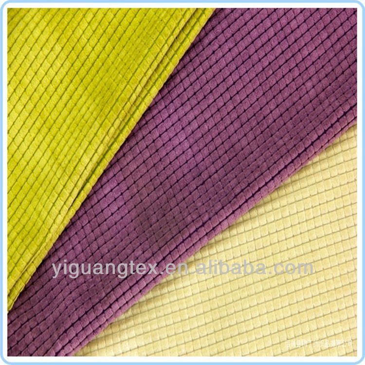 Microfiber Wide Wale Upholstery Fabric Corduroy Colorful
