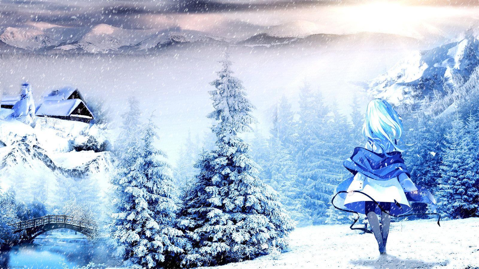 Anime Winter Wallpaper By Atndesign Winter Wallpaper Wallpaper Anime
