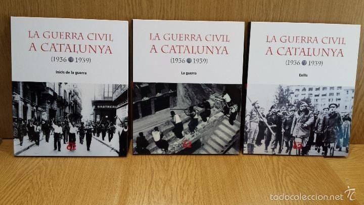LA GUERRA CIVIL A CATALUNYA. 1936-1939 / 3 TOMOS CON UN TOTAL DE 12 DVD / EDICIONS 62 / NUEVO.