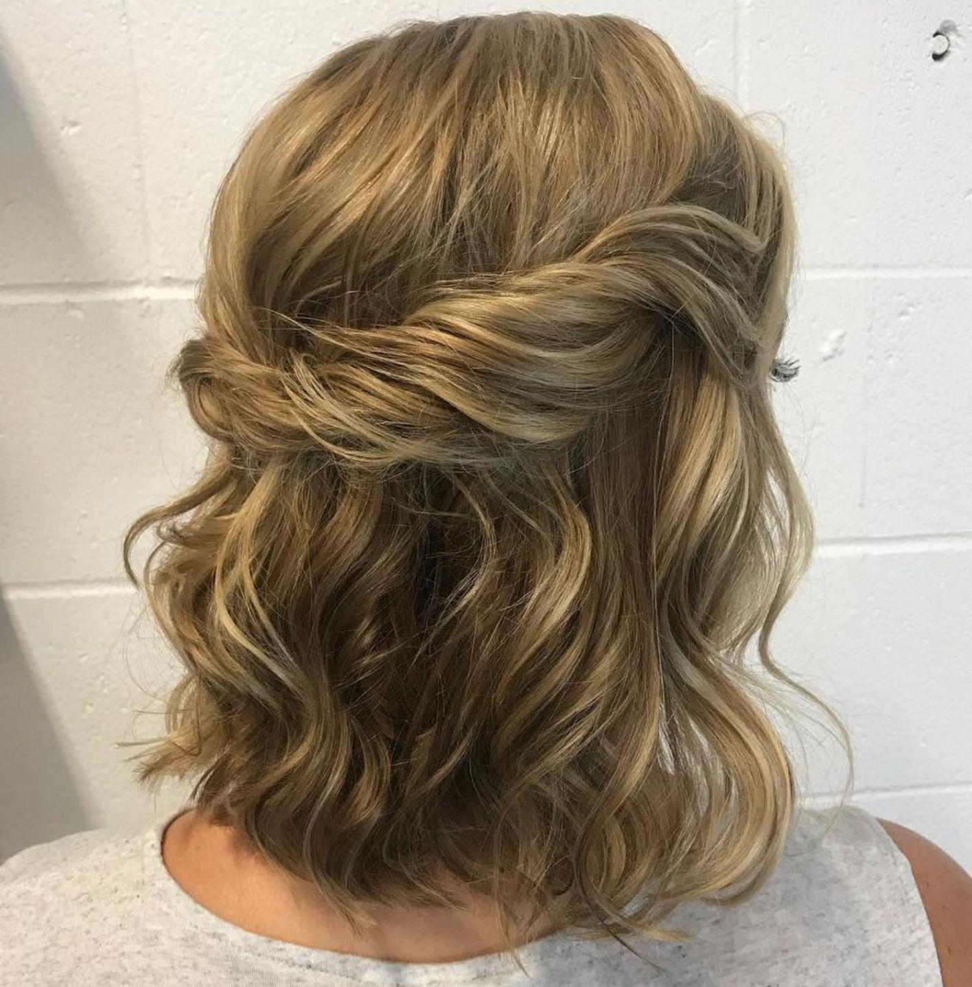 trendiest updos for medium length hair in maid of honor
