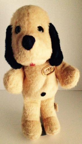 1971 Animal Fair Henry Dog 12 Plush Yellow Puppy Vintage Stuffed