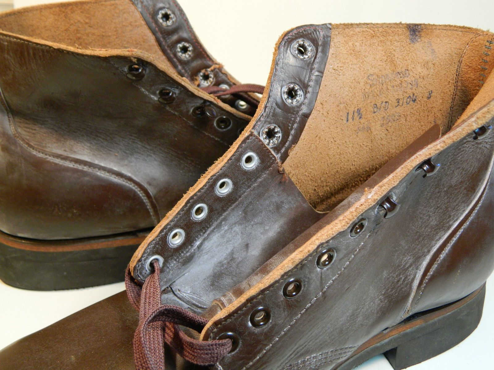 84e7779b1f494 1960's SEIBERLING Leather Boots / US Men's Size: 11 1/2 B/D ...