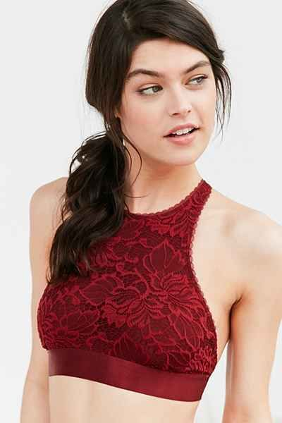 f207de005b Out From Under Katia Lace High Neck Bra