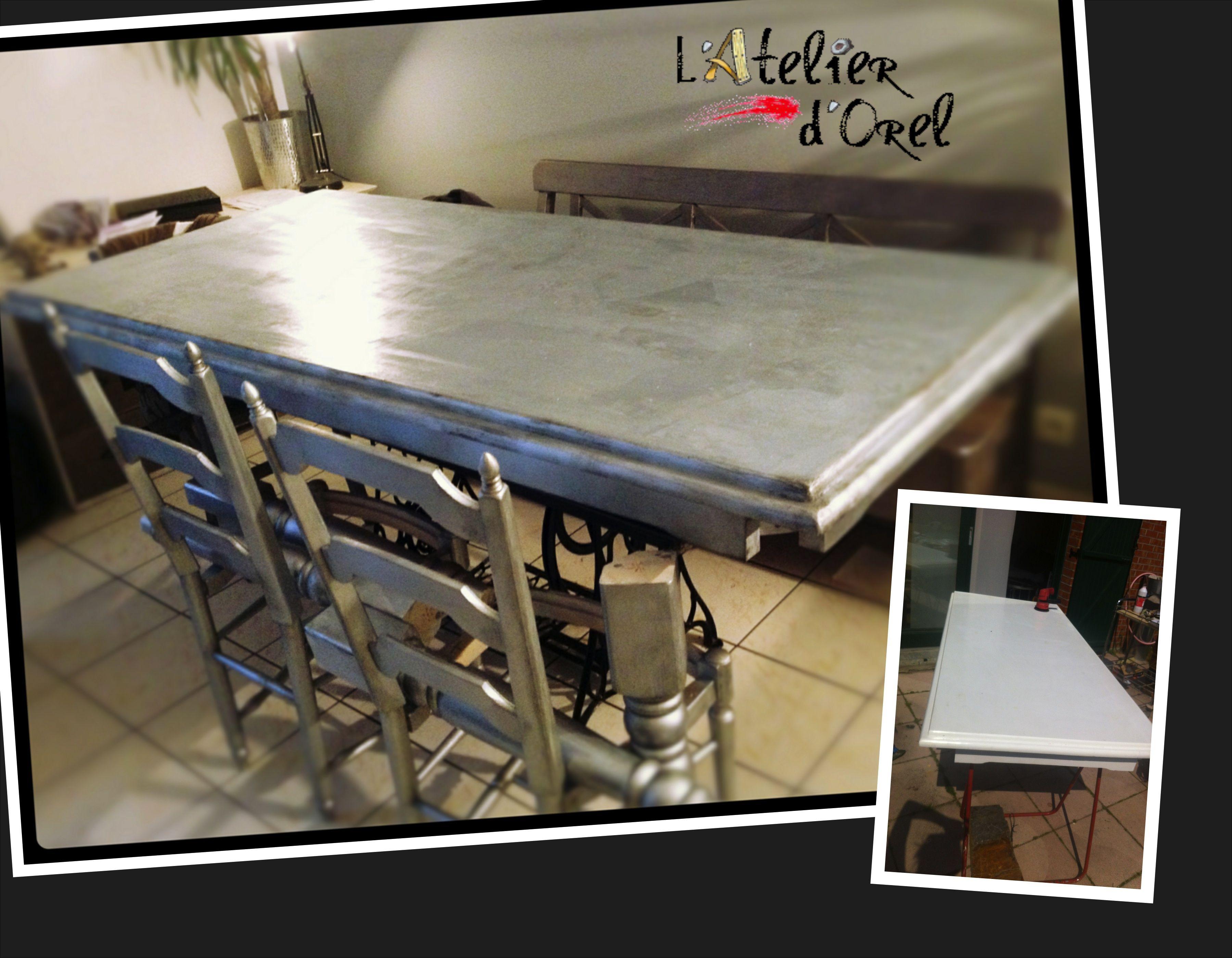 Relooking table de salle à manger L\'atelier d\'Orel | Relooking / DIY ...