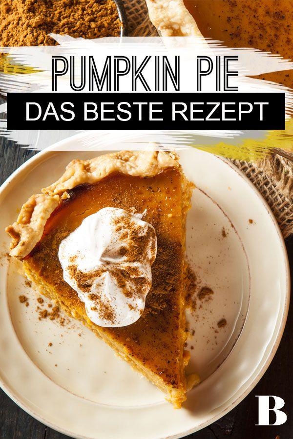 Pumpkin Pie: Das Original aus den USA backen. Pumpkin Pie hat in den USA Tradition: Ob zu Halloween oder zu Thanksgiving – der amerikanische Kürbiskuchen darf einfach nicht fehlen. Wir haben das beste Rezept für euch. #pumpkin #kürbis #kuchen #dessert