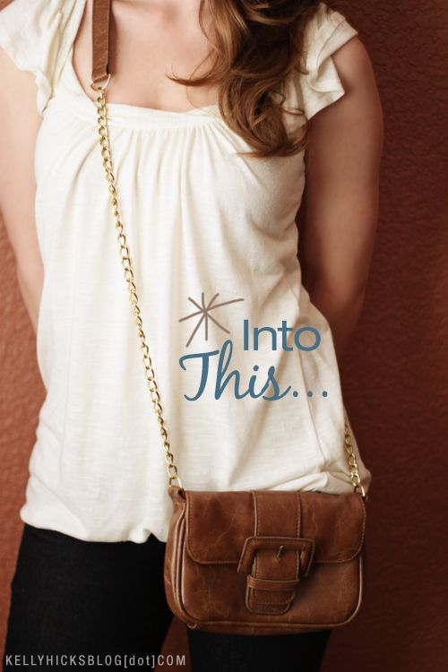 Transforming small purses into cute shoulder bags | over the ...