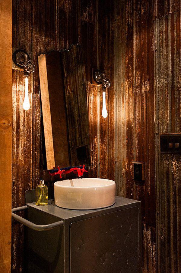 steampunk interieur design ideen extravagant waschbecken
