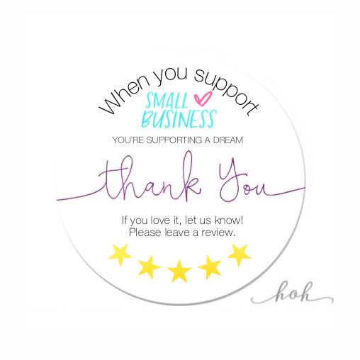 Etsy Review Stickers Leave A Review Shipping Happy Mail Etsy Business Stickers Small Business Cards Support Small Business Quotes