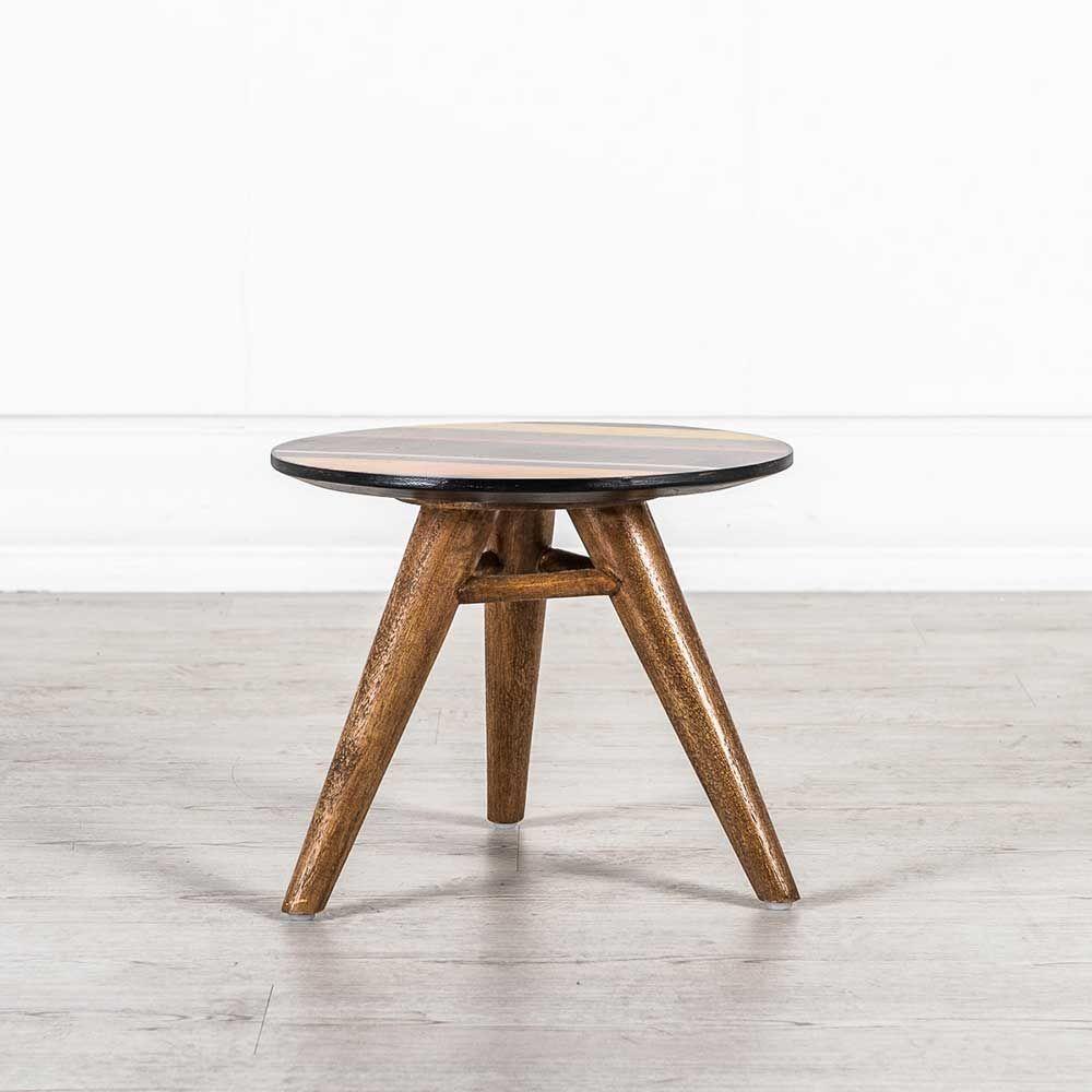 Design Beistelltisch In Bunt Braun Holz Massiv Jetzt Bestellen Unter Moebelladendirektde Wohnzimmer Tische Beistelltische Uid5f3289b1 Eae9 52fc