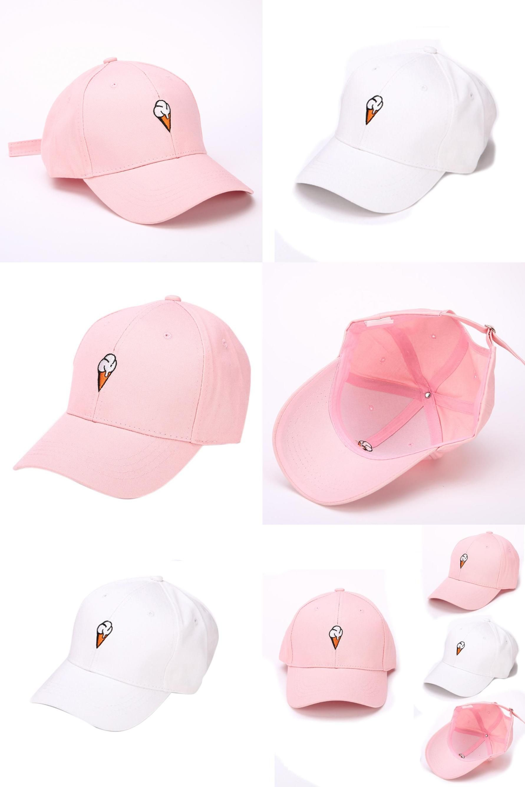 936225dca50  Visit to Buy  Summer Ice Cream Print Snapback Cap Women 2017 Fashion Brand  Bone