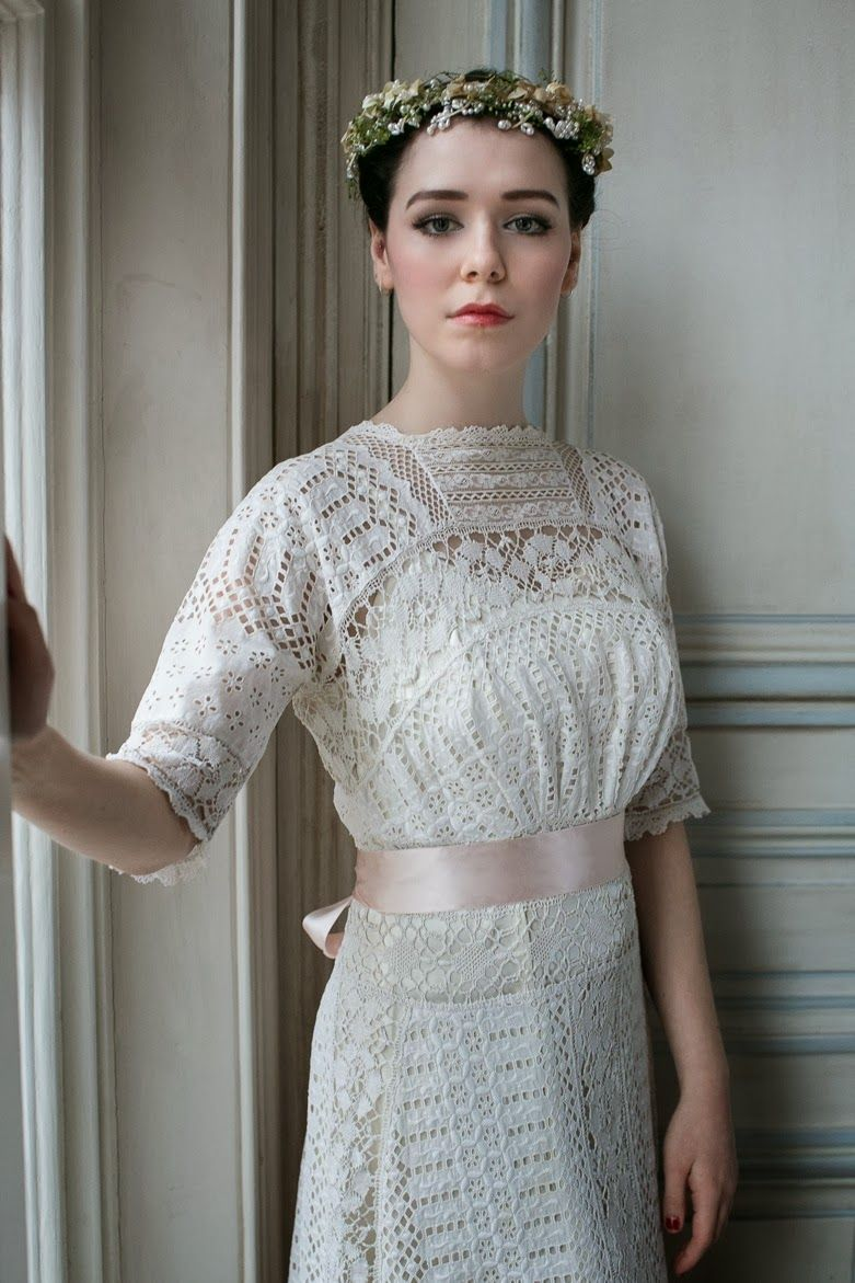 Retro wedding dress  Edwardian wedding dresses c Heavenly Vintage Wedding Blog