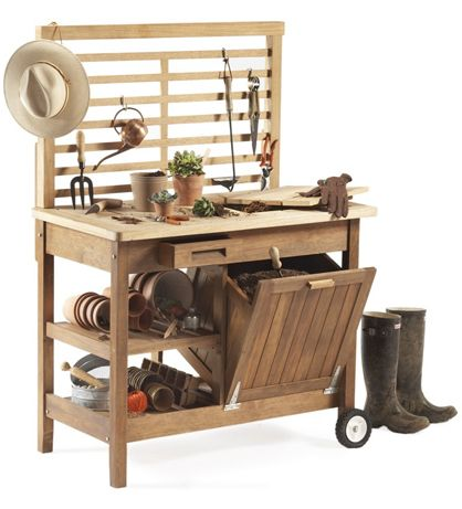 Garden Potting Bench   Steal of the Day: Deluxe Potting Bench