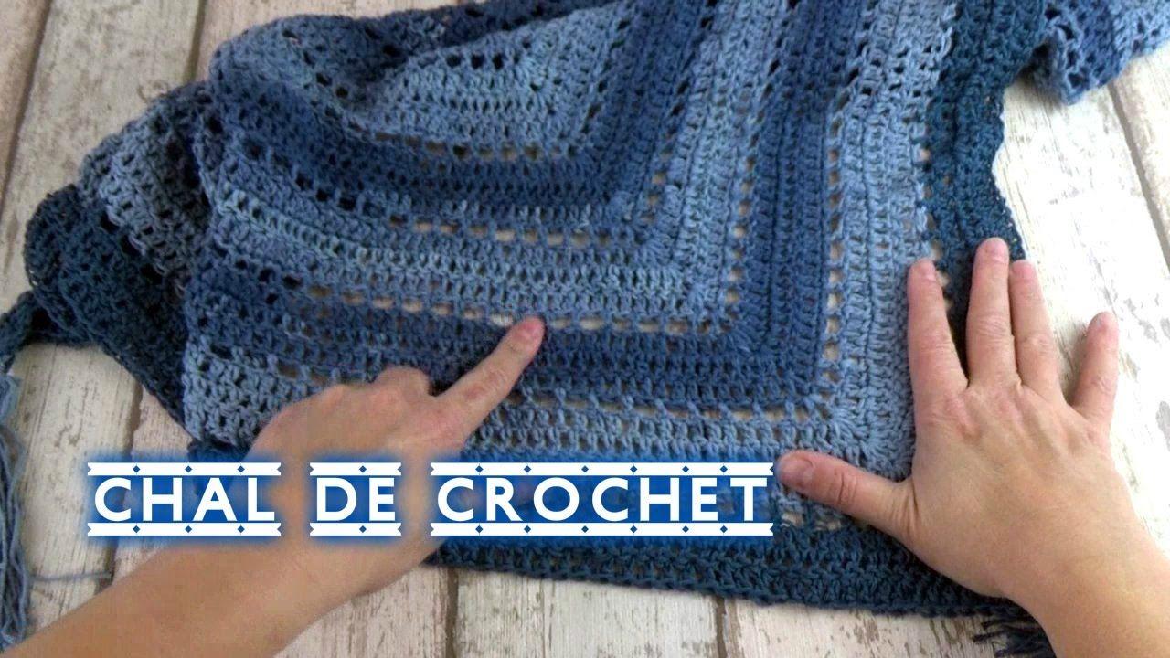 DIY | COMO HACER UN CHAL DE CROCHET TRIANGULAR EN UNAS HORAS FACIL ...
