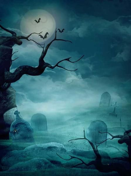 OFILA Halloween Background 3x5ft Polyester Fabric Kids Halloween Party Photos Backdrop Spooky Forests Full Moon Night Owl Halloween Eve Events Decor Digital Studio Props