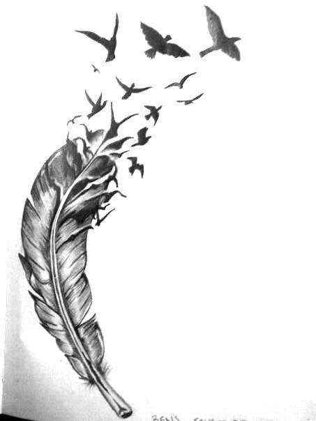 Desenhos De Pena Com Passaros Pesquisa Google Tatuagem