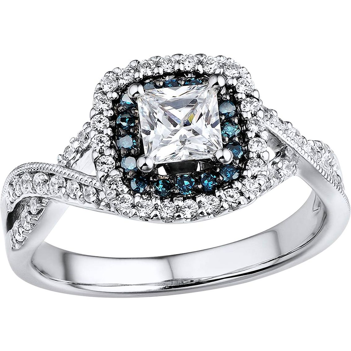 Elegant In Every Detail This Engagement Ring Boasts A 1 2 Ct