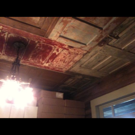 Rustic Finished Basement Ideas: Old Doors On Ceiling At A Winery In The Texas Hill Country