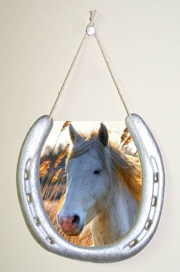 How To Make Horseshoe Picture Frames Girls Crafts Pinterest