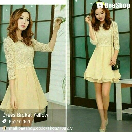 Dress Yellow Brokat