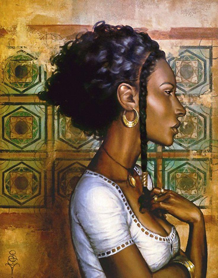 """""""Ishtara"""" S.C. Versilee, oil on canvas {contemporary art"""