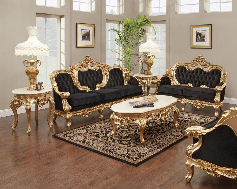 French Gold Leaf Living Room Set Antique Recreations Modern Living Room Furniture Sets Living Room Sets Furniture Modern Furniture Living Room Vintage living room furniture sets