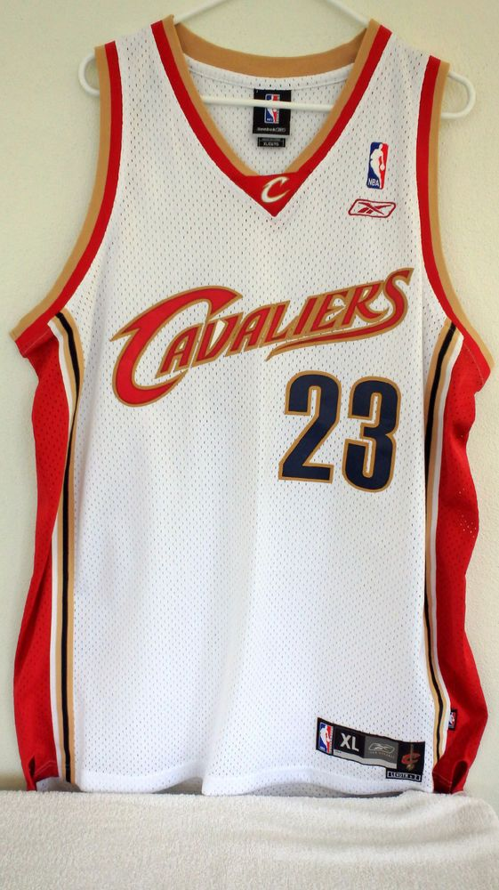 new style b6c9a b72cd LEBRON JAMES JERSEY CAVALIERS CAVS MENS AUTHENTIC XL SEWN ...