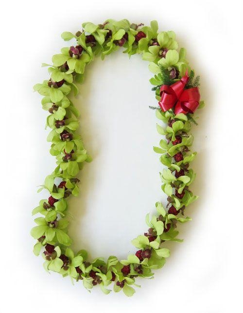 Christmas Leis : christmas, Fresh, Hawaiian, Orchid, Loose, Blooms, Christmas,