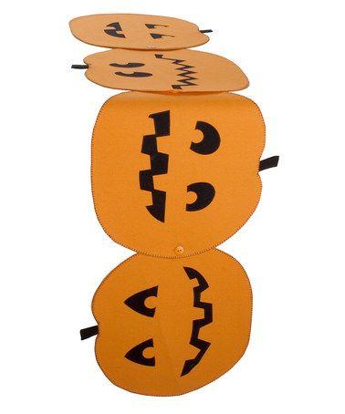 Orange Pumpkin Runner by tag #zulily #zulilyfinds. Converts to placemats