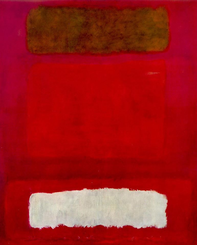 Mark Rothko [American, born Russia (now Latvia). 1903-1970, Untitled (Red, white and brown), 1957. Oil on canvas, 252.5 x 207.3 cm. Kunstmuseum Basel, Basel, Switzerland.