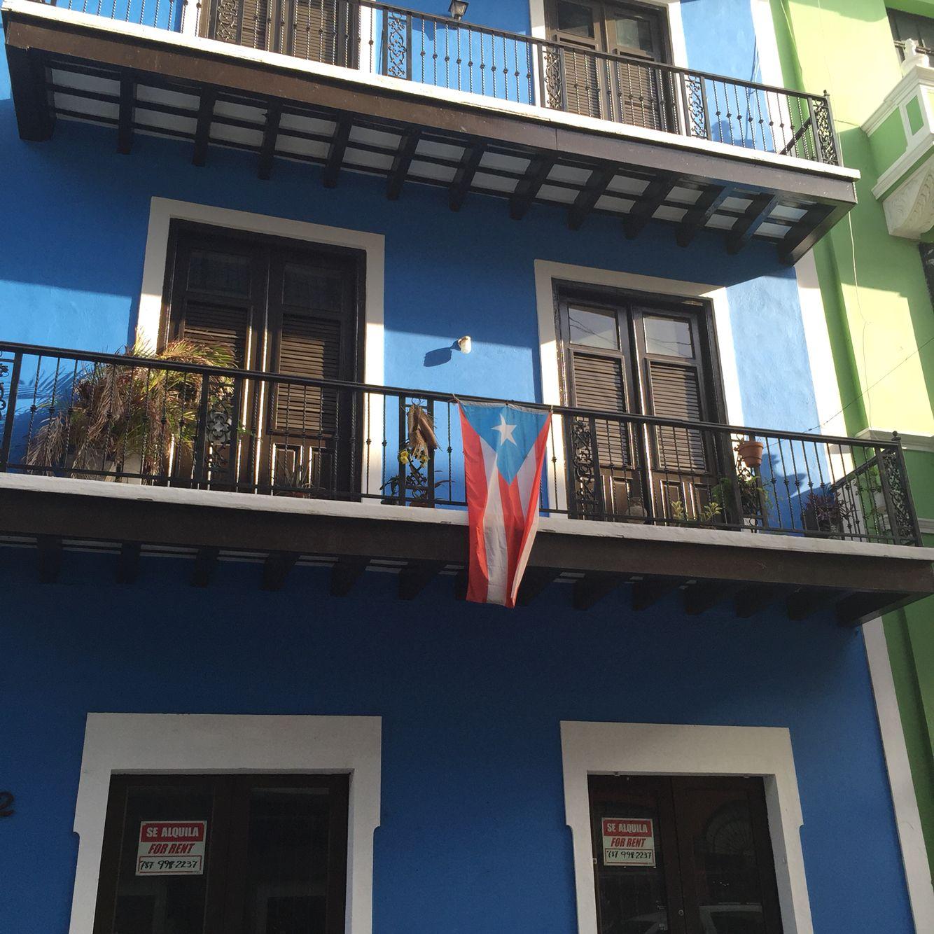 Balcón en El Viejo San Juan