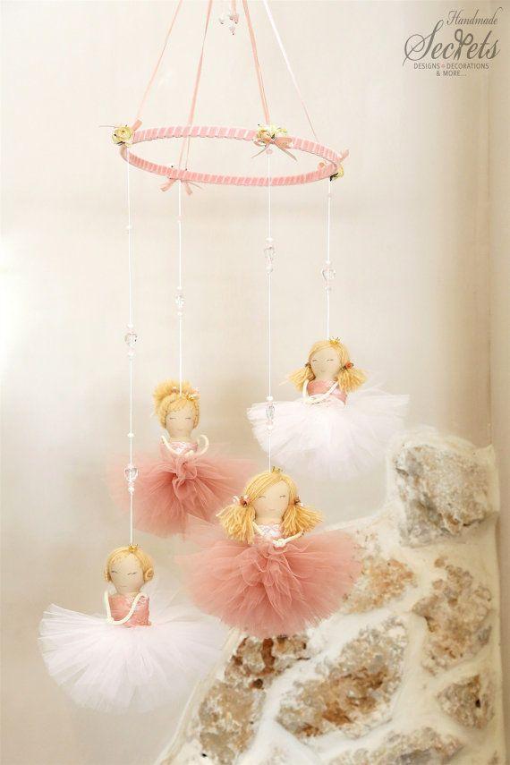 Ballerina Baby Mobile, Handmade Baby Mobile, Floating Ballerinas, Girlu0027s Baby  Room, Nursery