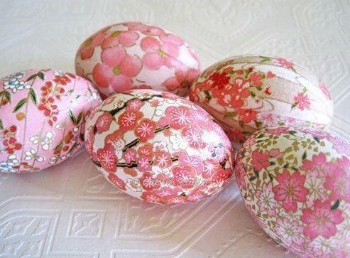 Huevos de pascua decorados paso a paso -Decoupage DIY multi - huevos decorados