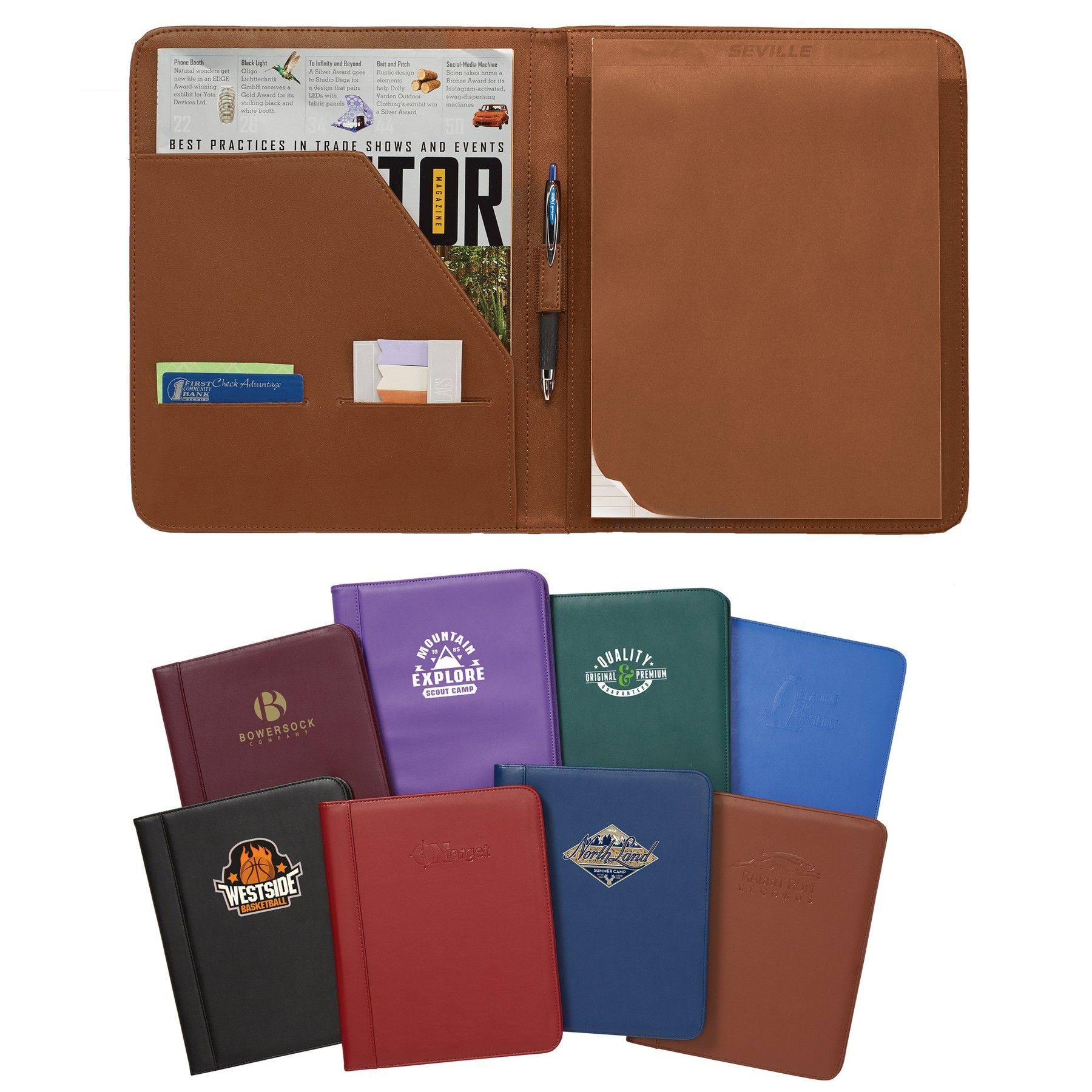 Conference Padholder Portfolio Business Card Holders Business Logo Writing Pad