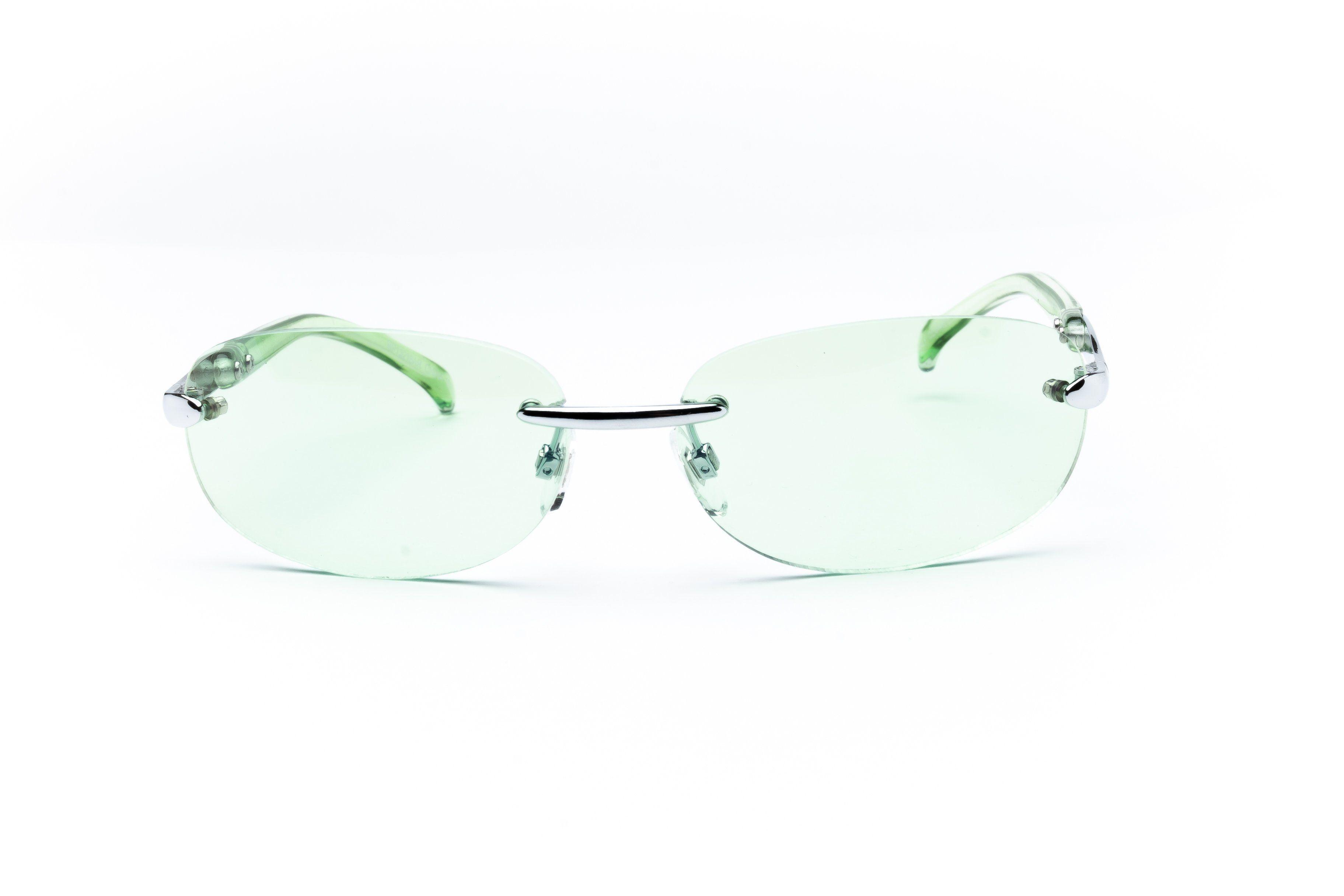 """Uncut Gems"" 2000's Y2K Vintage Oval Sunglasses"