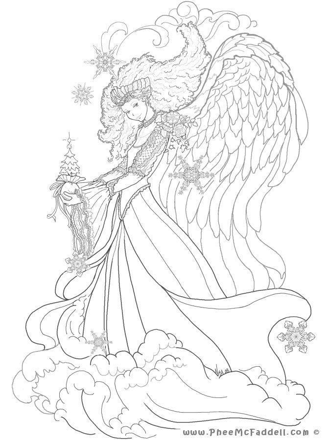 Pin By Coloring Pages Kids Design On Coloriages Angel Coloring Pages Mermaid Coloring Pages Fairy Coloring Pages