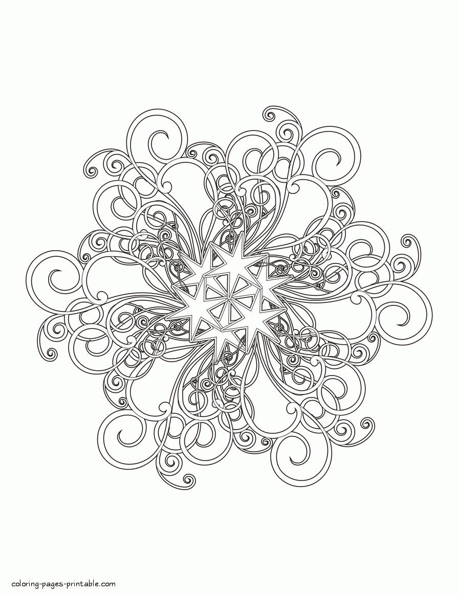 Schneeflocke - Christmas in 2020 Weihnachtsmalvorlagen
