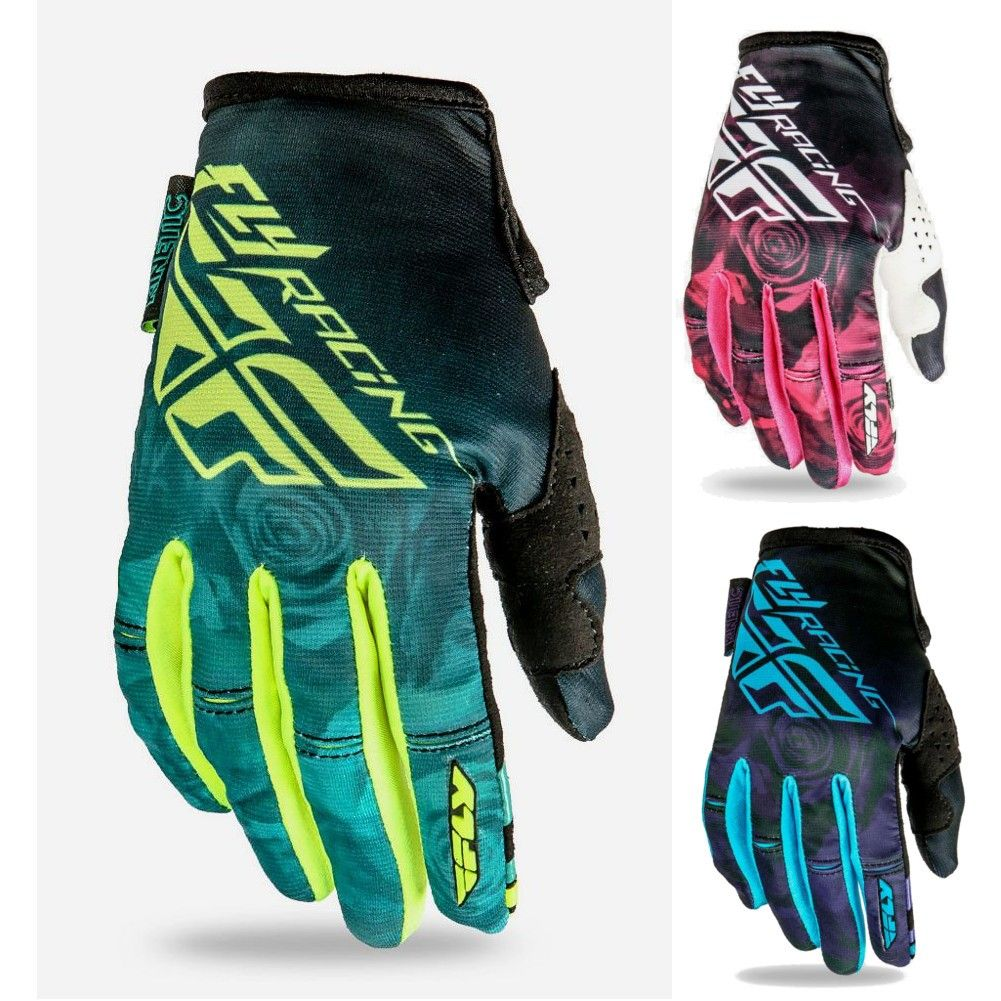Fly Racing Kinetic Girls Youth Motocross Gloves