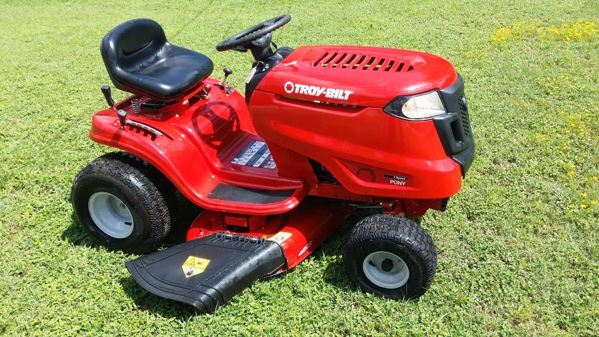 Troy Bilt 7 Speed Pony Riding Lawn Mower Riding Lawn Mowers Riding Lawn Mower