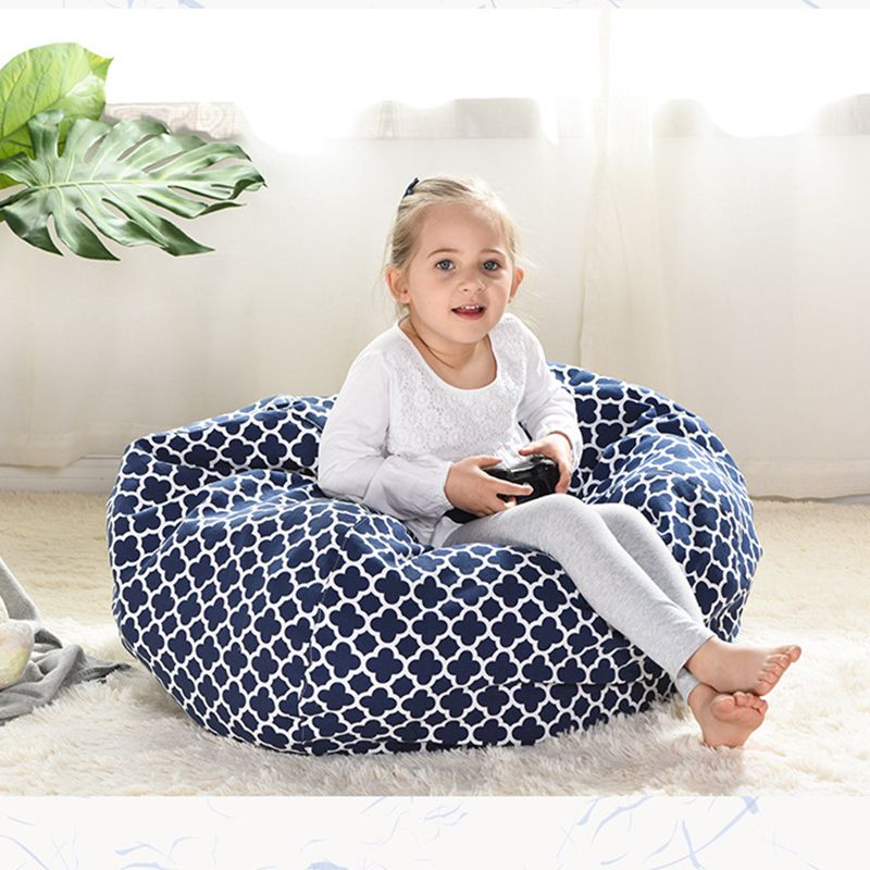 Printed Kids Bean Bag Chair Cover No Fillers Lazy Beanbag Sofa Puff asiento Puff sillon Sofa Bed Tatami Pouf Bedroom Living room