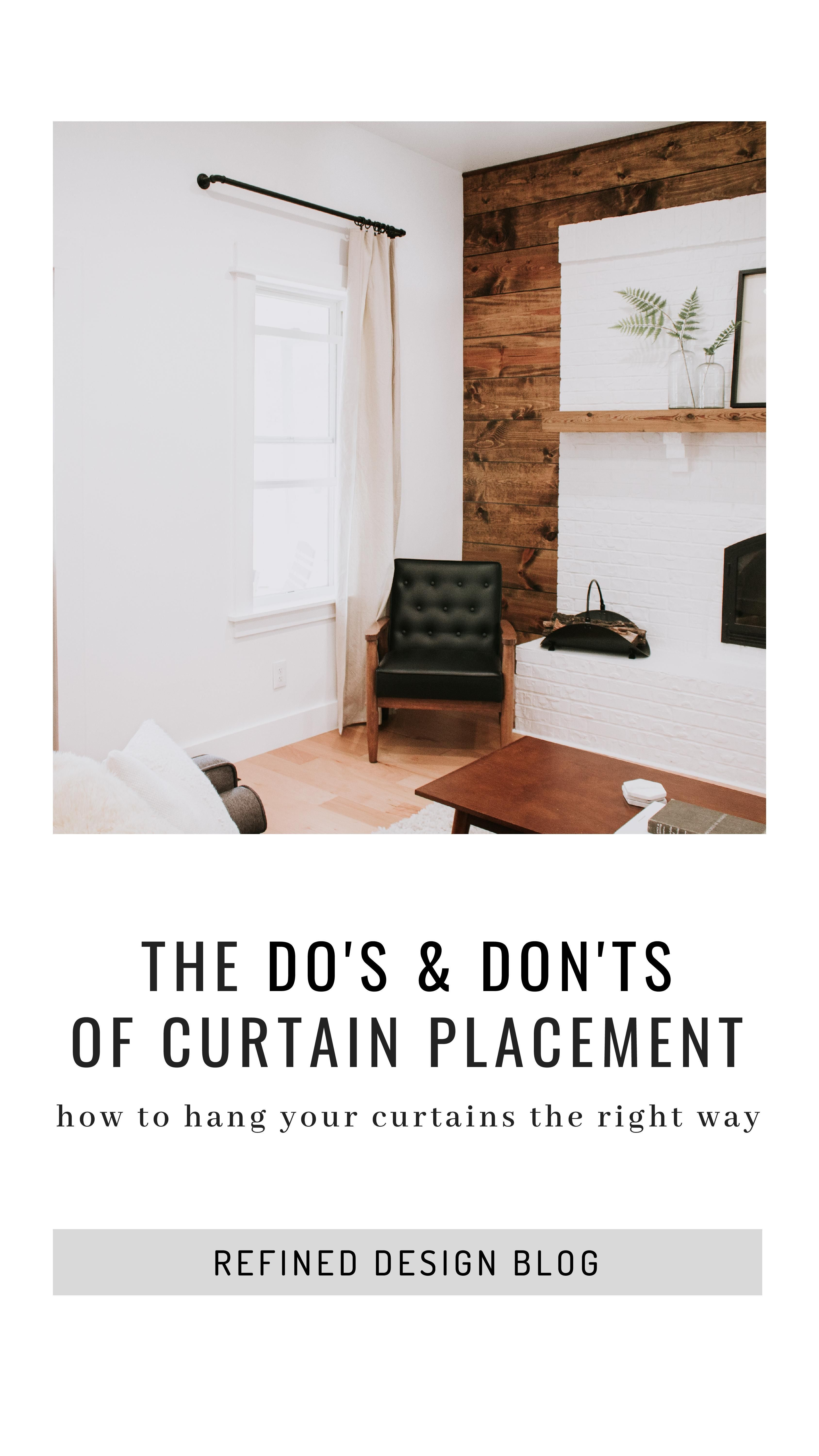 The Do S Don Ts Of Curtain Placement Tall Ceiling Curtains