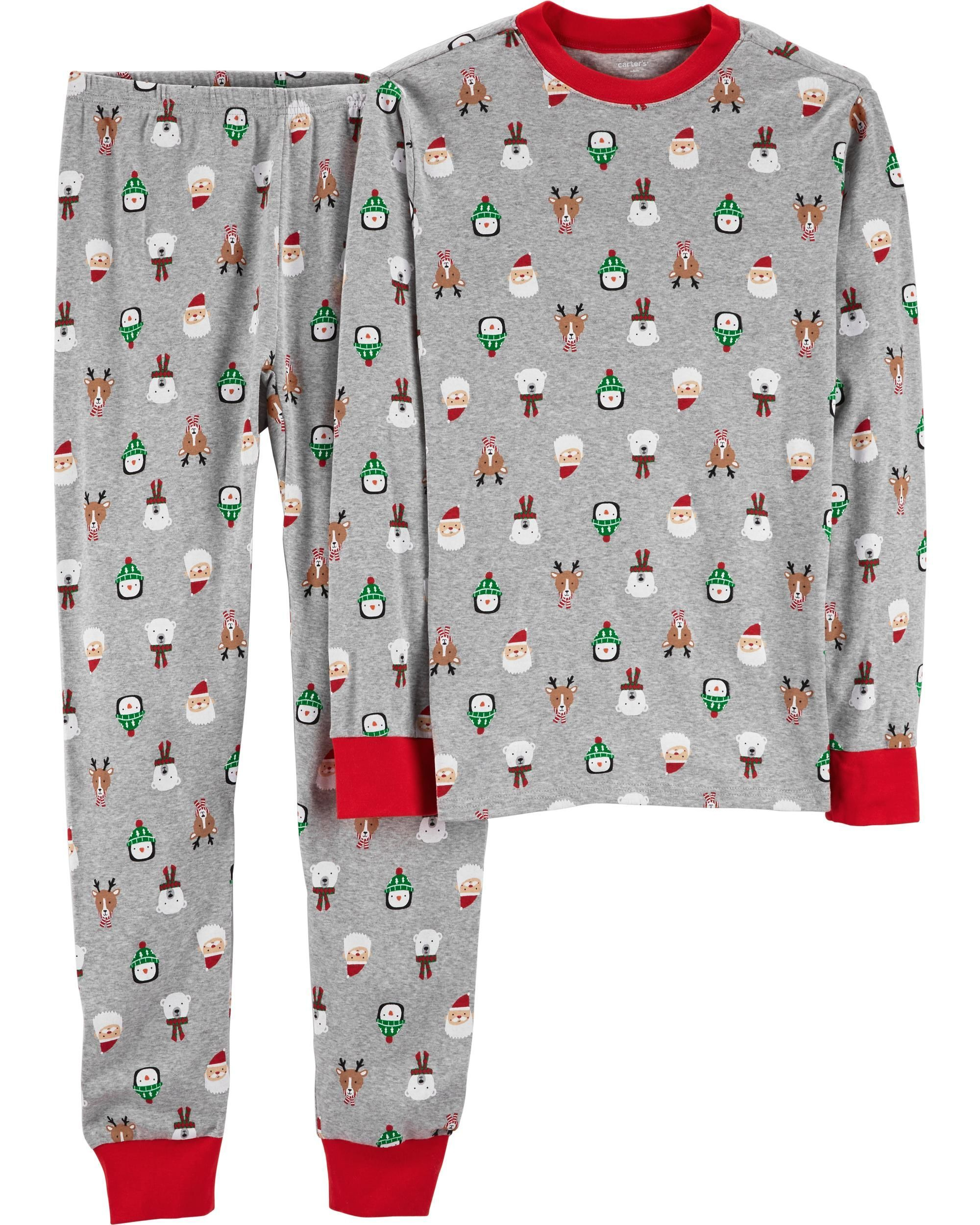 2Piece Adult Holiday Snug Fit Cotton PJs Carter's