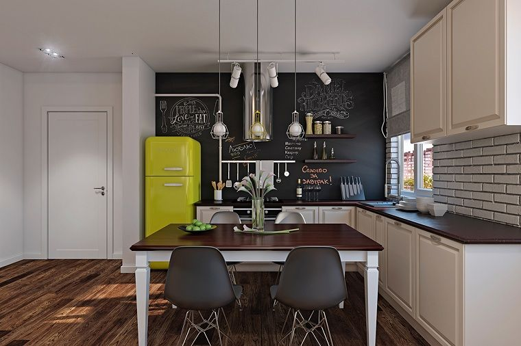 frigorifico de color amarillo | Interiores para cocina | Pinterest ...