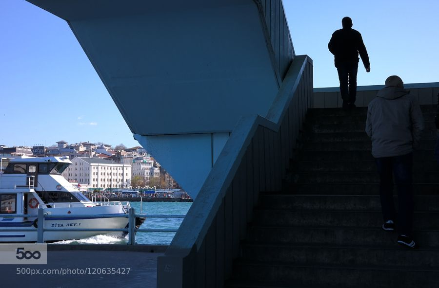bridge - Pinned by Mak Khalaf ... Fine Art bridgecityeminönügalata bridgeistanbulseastreetturkey by muhsinbey