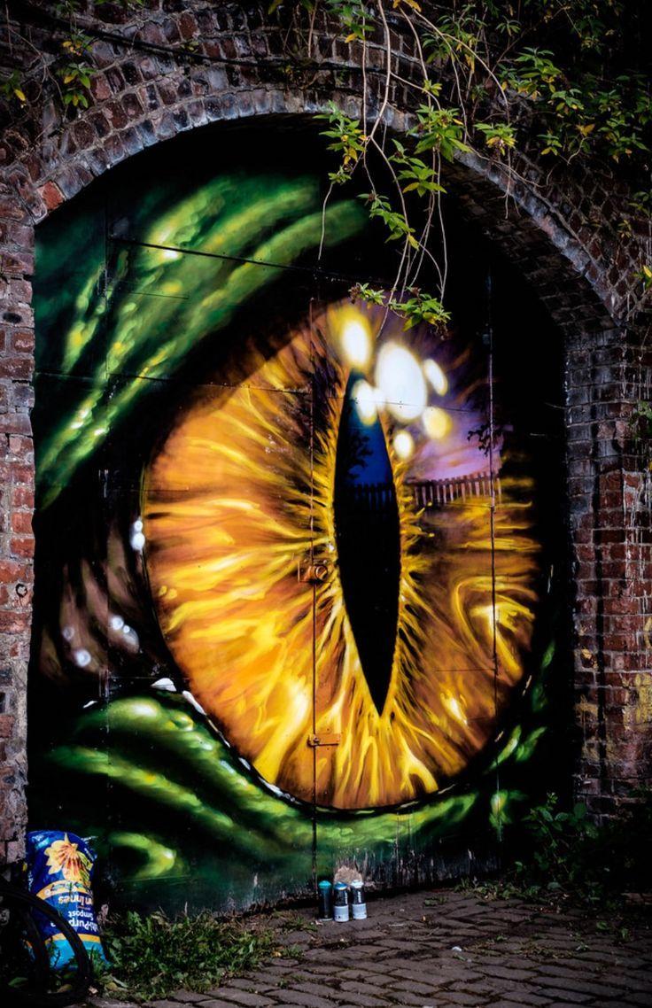 Aye Eye In 2020 Street Art 3d Street Art Street Art Graffiti