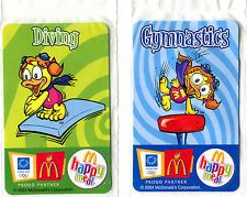2 x McDonalds Promotional Cards - Olympic Athens 2004 - Happy Meal -  Unopened!