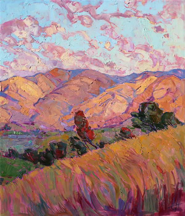 Dawn Hills - Modern Impressionism | Contemporary Landscape Oil Paintings for Sale by Erin Hanson
